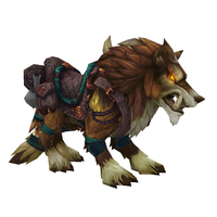 Orange Draenor Wolf