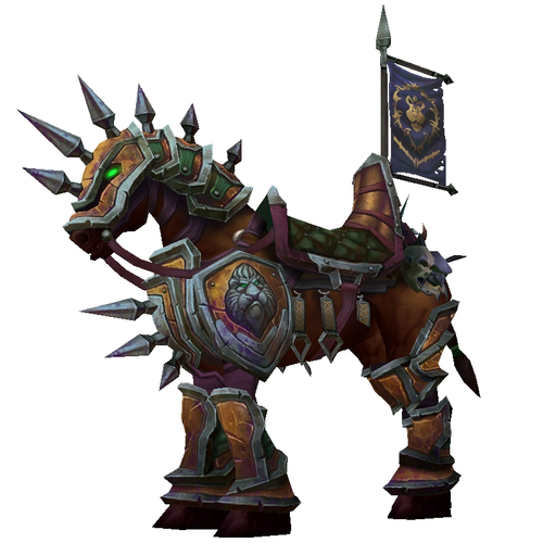 Coppery Armoured War Steed