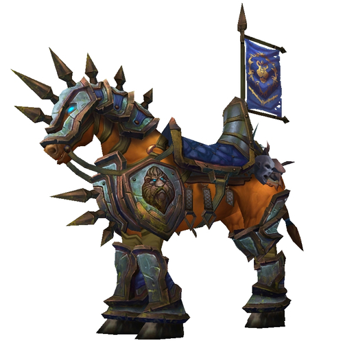 Blue-Gold Armoured War Steed