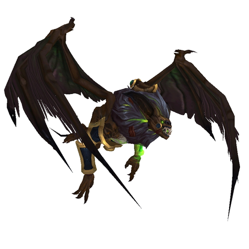 Warcraft Mounts: Brown Felbat