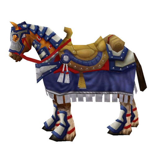 Warcraft Mounts: Alliance Knight's Steed