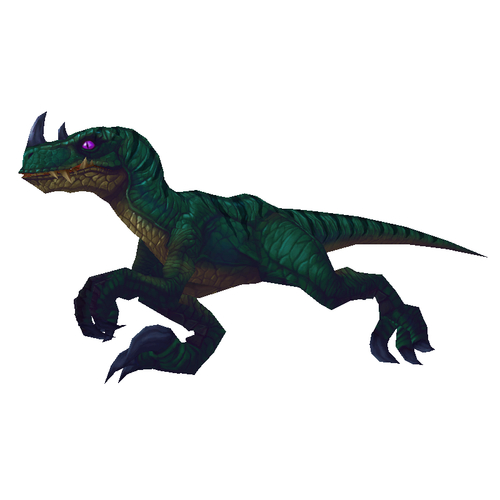 Bare Dark Green Raptor