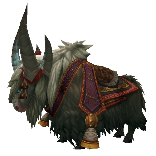 Grey Riding Yak