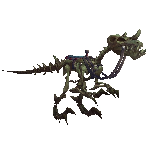 Dark Skeletal Raptor