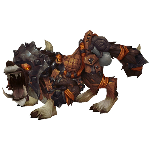 Armoured Red-Brown Draenor Wolf