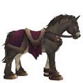 Grullo Horse w/ Burgundy Saddle