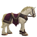 White Horse w/ Burgundy Saddle