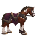 Pinto Horse w/ Burgundy Saddle