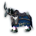 Blue Skeletal Warhorse