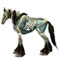 Unsaddled Blue Skeletal Horse