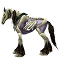 Unsaddled Purple Skeletal Horse